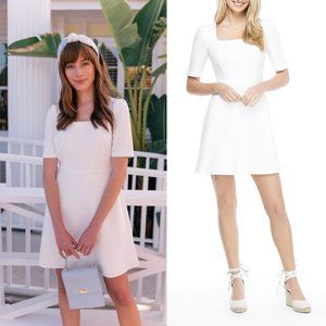 NWT Gal Meets Glam White Kylie Square Neck Dress